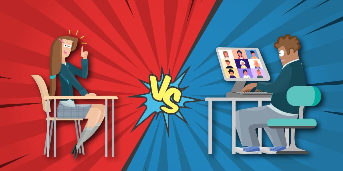kelas online vs kelas offline