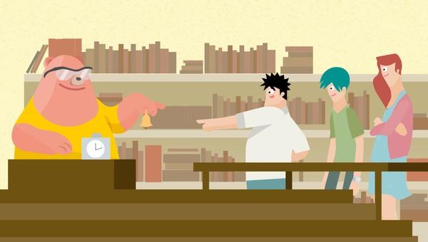 percakapan-di-perpustakaan