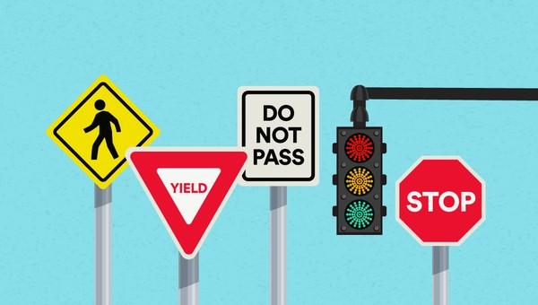 traffic sign rambu lalu lintas
