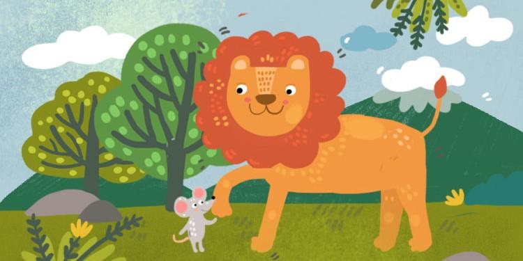 Сказки на ночь: Лев и мышь