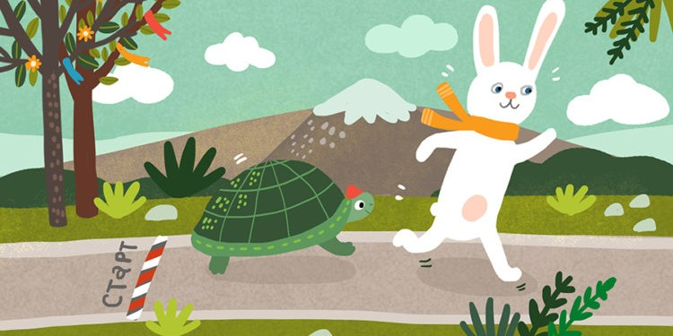 Сказки на ночь: Заяц и черепаха